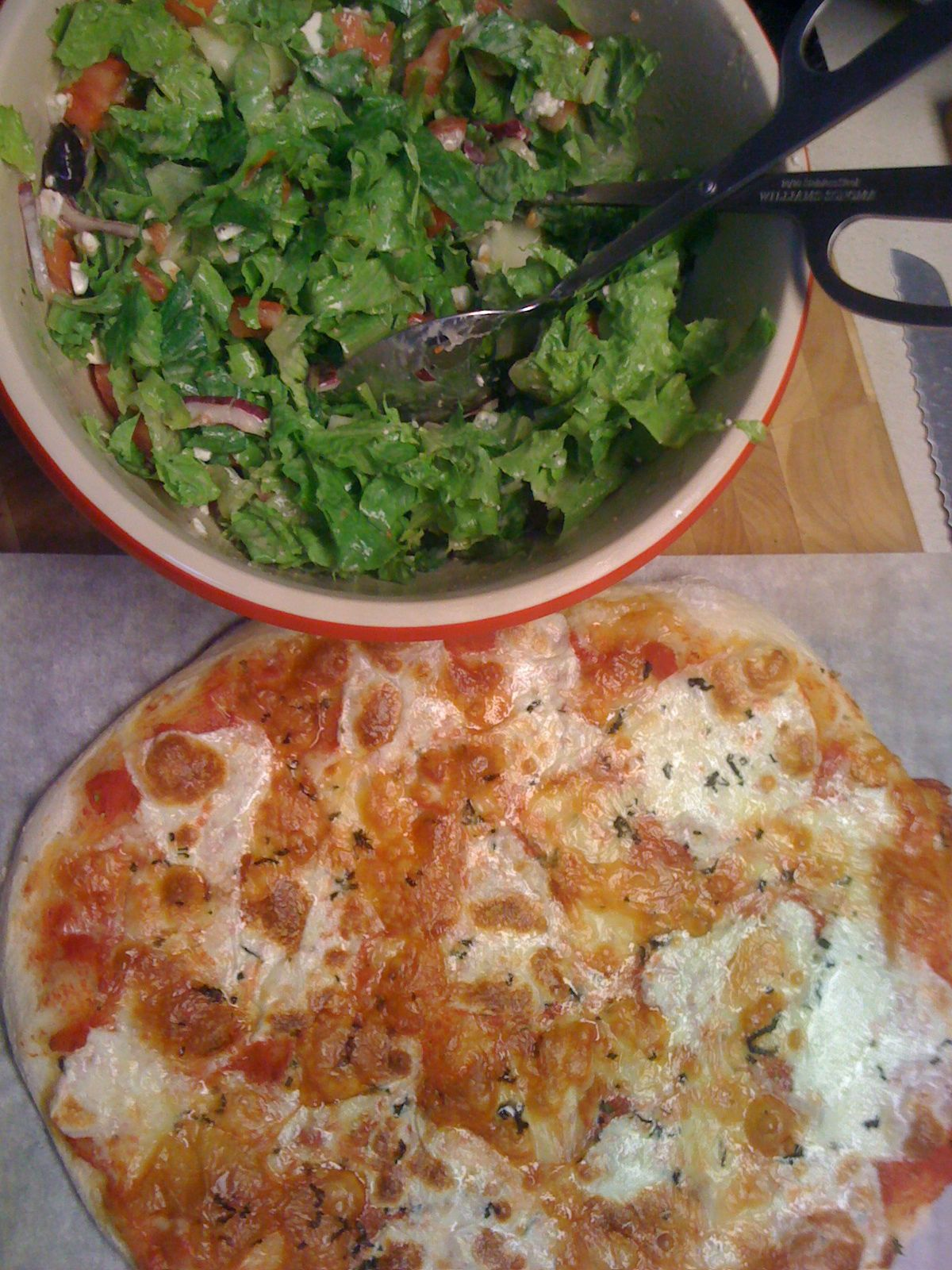 "Our pizza dinner ... not such a great ""foodprint"", but still pretty tasty!"