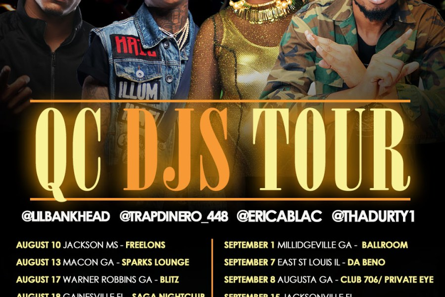 Erica Blac , DurtyDu And Trap Dinero Will Be Headlining QC DJ's Tour |