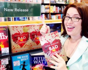 With her new release title, Bad Romeo on the bookshelves