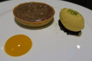 Warm Manjari Chocolate Tart