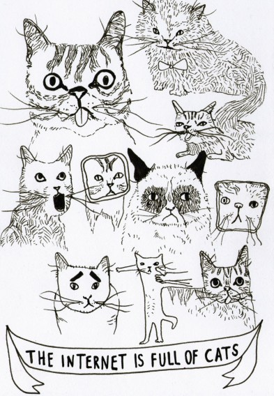 The Internet is Full of Cats by Bans for Gravity zine by Omar Majeed