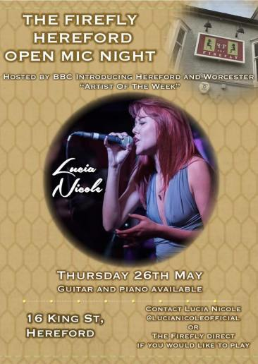 Open Mic at the firefly hereford