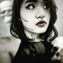 Halloween makeup. I was bored, okay?