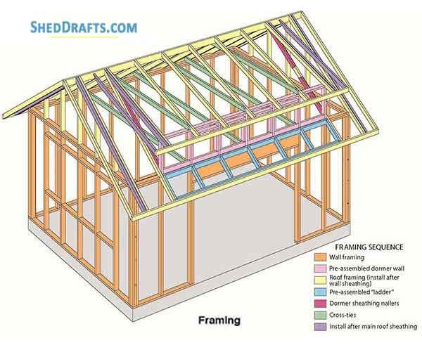 Shed Roof Framing Diagram - House Wiring Diagram Symbols •
