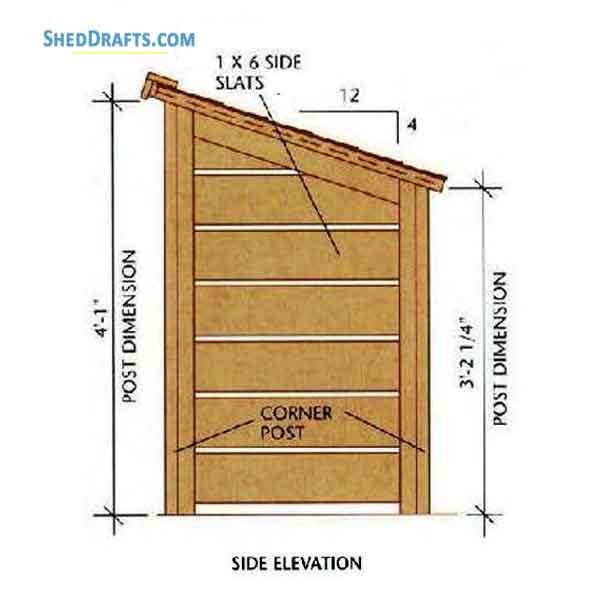 8x10 Lean Shed Plans