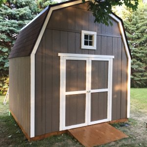 12'x8' All Wood Barn Shed