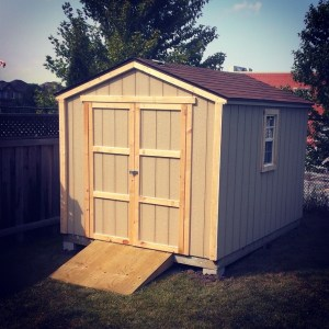 8 x 10 Wood Gable Style Shed