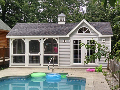 See our full line of pool houses