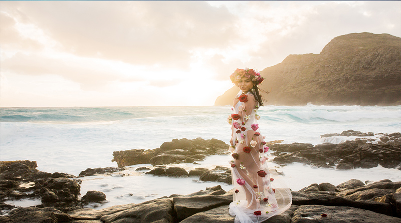 Floral Veil Sunrise Shoot