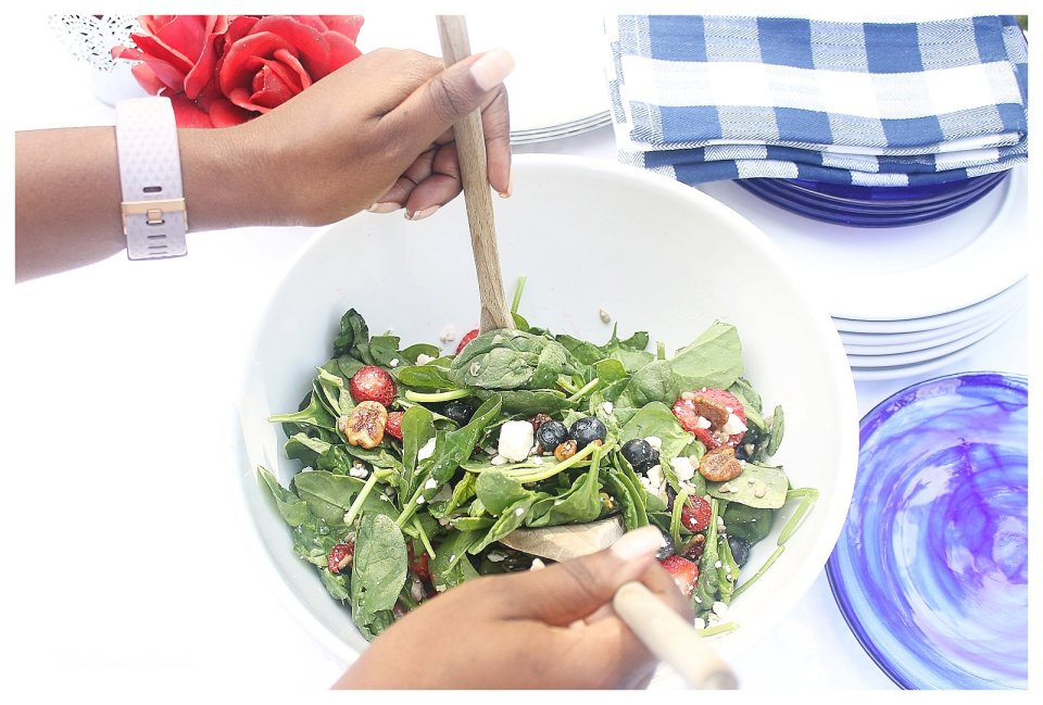 Lighter Fare Spinach and Feta Salad