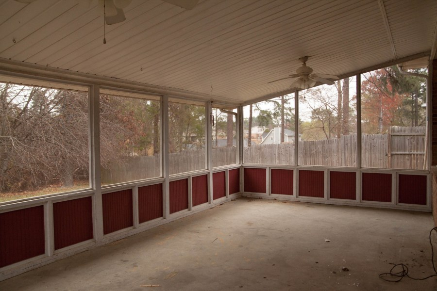 First Rental Property Screened In Porch Before