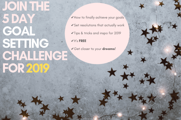 Join the 5 day goal setting challenge for the new year