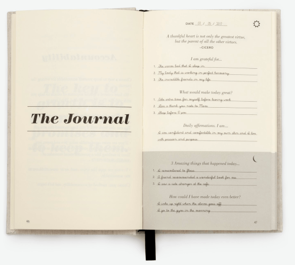 how to start a journal - five minute journal