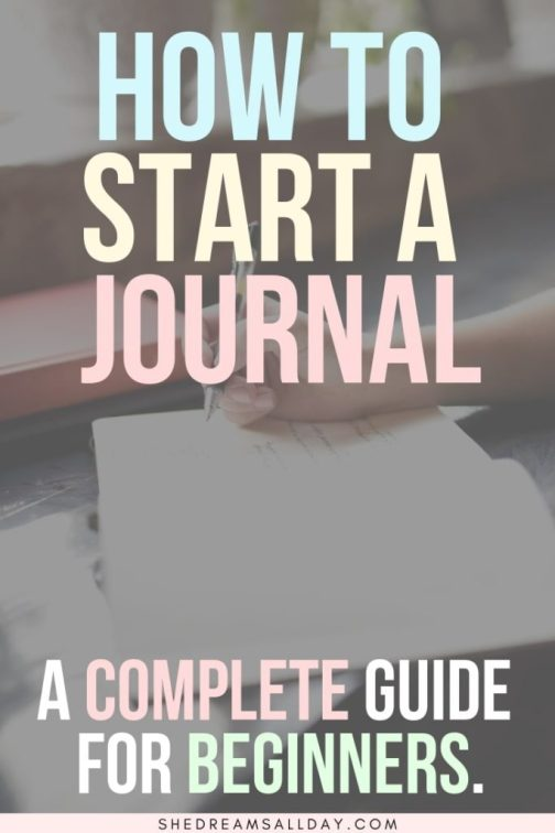 How to start a journal for beginners