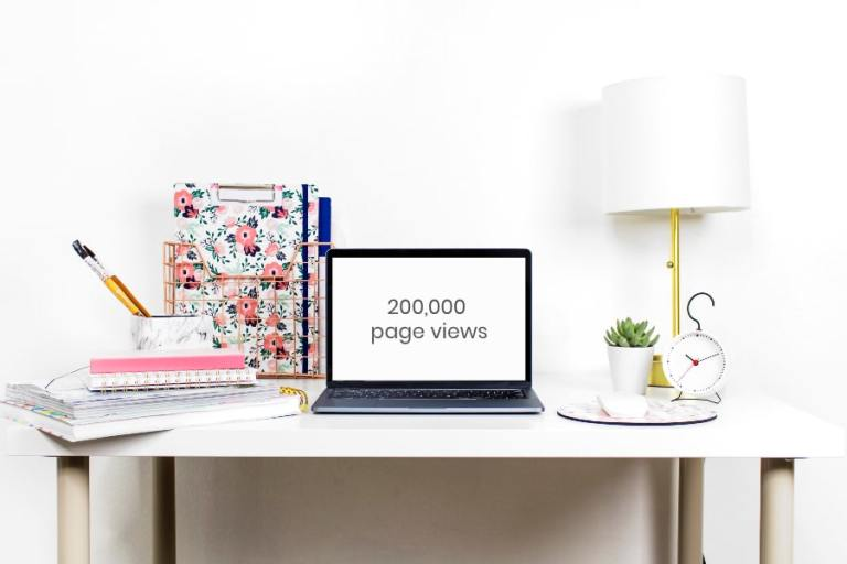 how to increase blog traffic to 200000 monthly page views