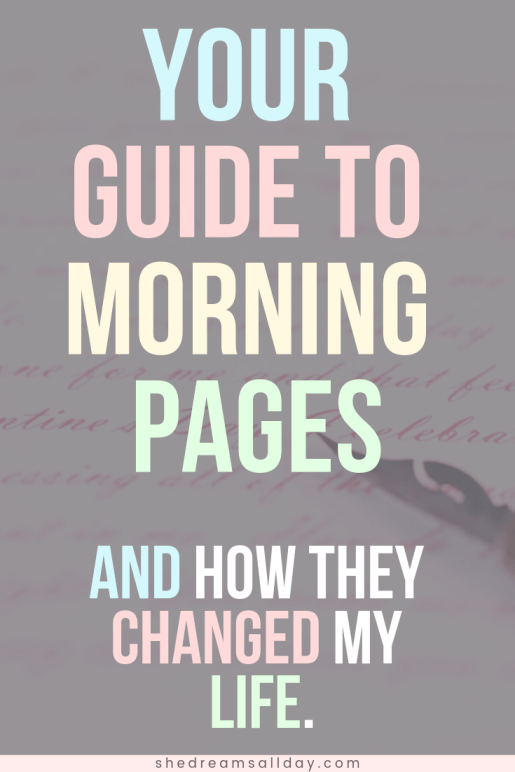 What are morning pages - and how they changed my life.