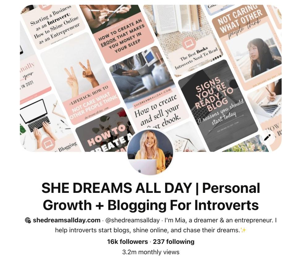 blog traffic from Pinterest