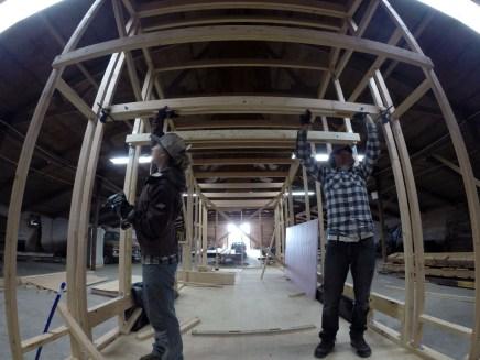 Installing our Custom LVL Loft BeamsGOPRO