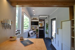 View from kitchen into living space
