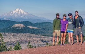 Brandon and Laura, Fresh off and then back on the Pacific Crest Trail. Northern California, August 2016