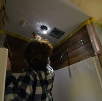Painting the shower ceiling