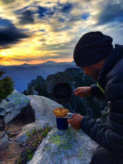 Unmemorable backcountry pourover coffee