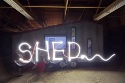 Light painting on our last night in the barn!