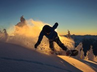 sunset powder turns