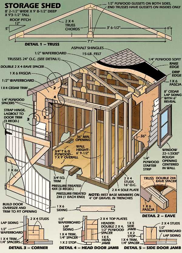 Utility Building Plans