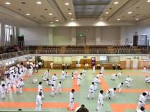 Kodokan - competitors warming up