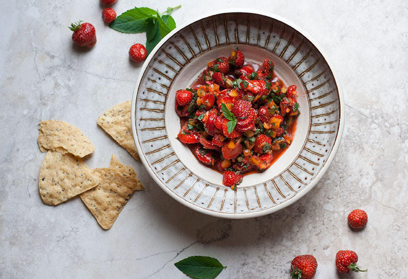 Wild Strawberry Mint Salsa
