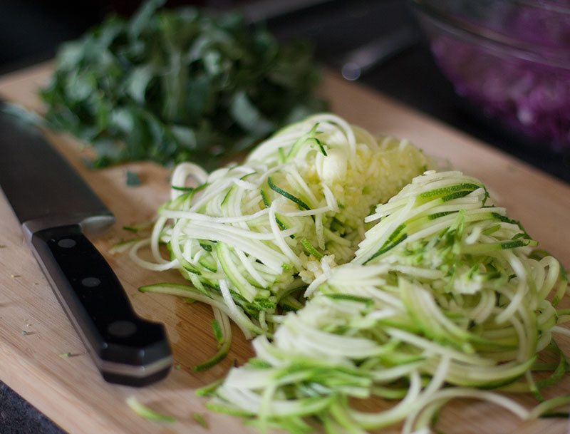 Miso Turmeric Zucchini Salad - ingredients | SheenaScott.com