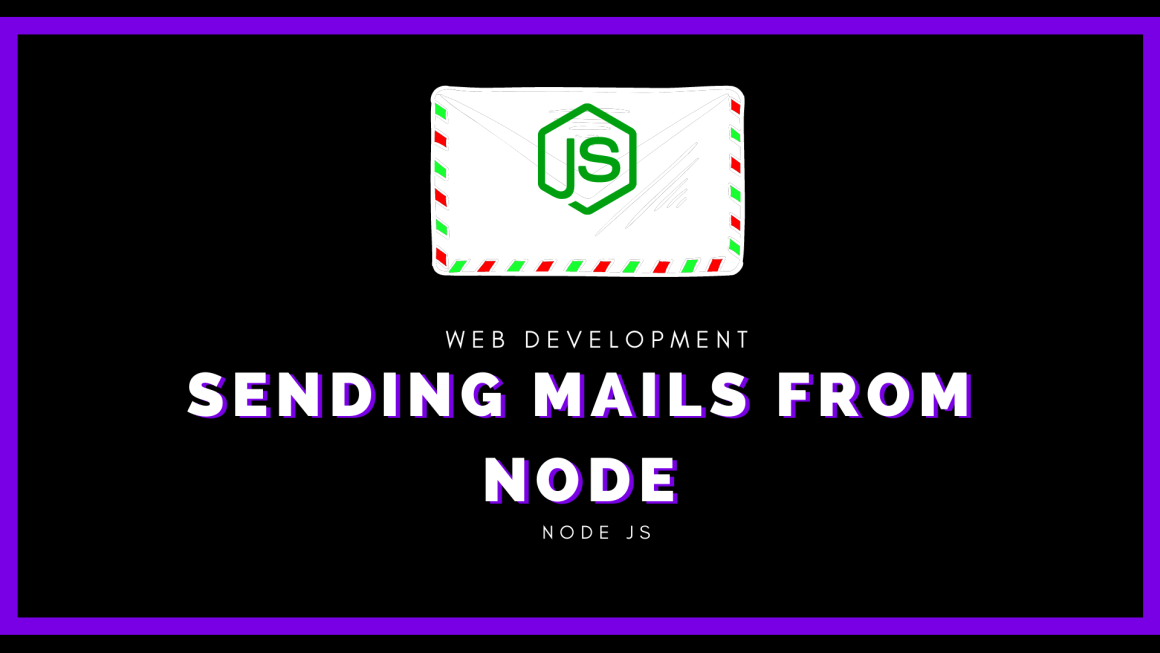 Sending mails from node js web application