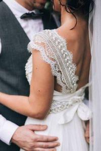 Rustic vintage wedding dress @SheerEverAfter