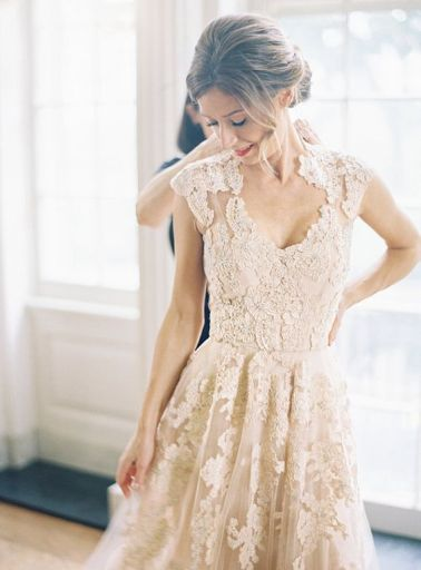 Champagne & nude wedding dress inspiration @Sheer ever after