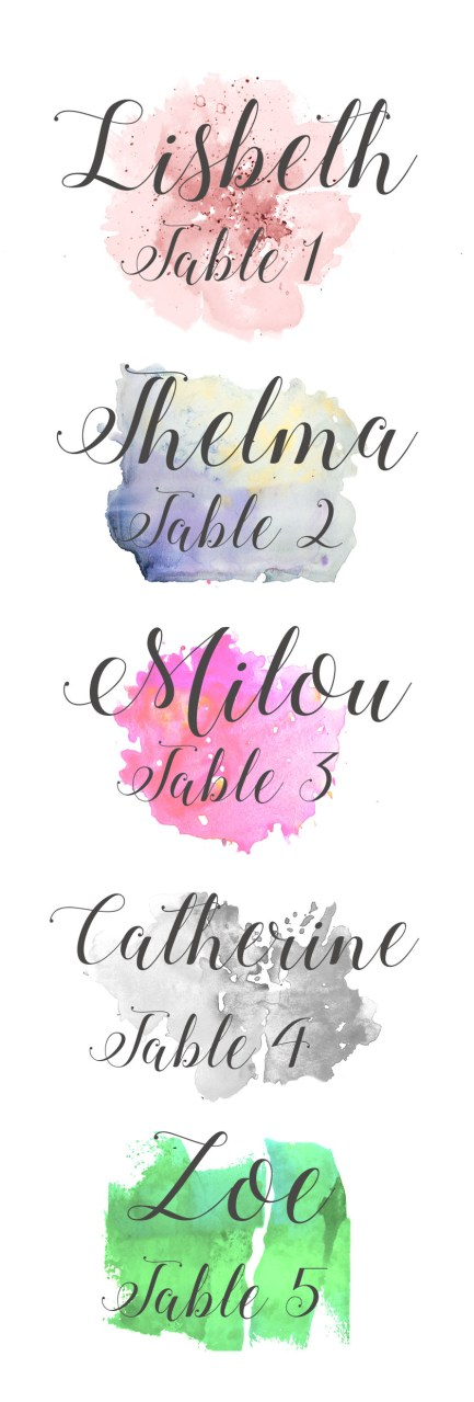 Free escort cards from Sheer