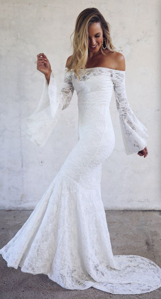 We Think You Might Adore These Gorgeous Bell sleeve wedding dress - 15 Fabulous Wedding Ideas for your 2018 Wedding Celebration ..... @Sheer Ever After wedding blog. www.SheerEverAfter.wordpress.com