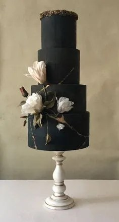 You Will Love These Dramatic Wedding Cakes - A Wedding Article by Sheer Ever After