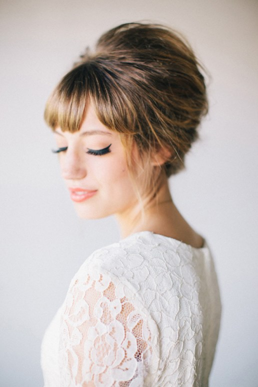 Sophisticated + Straight Wedding Hairstyles - Beautiful Bridal Inspiration by Sheer Ever After
