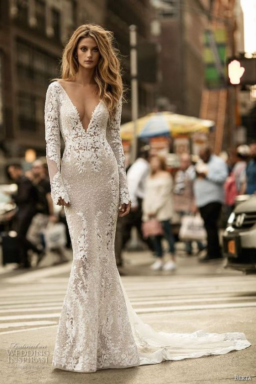Alicia Vikander Wedding Ideas // Wedding Dress by Berta // SHEER EVER AFTER WEDDINGS