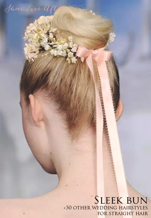 Straight Bridal Hairstyle Inspiration