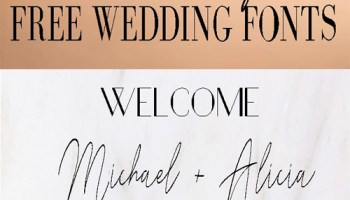 FREE Whimsical wedding fonts     Sheer Ever After
