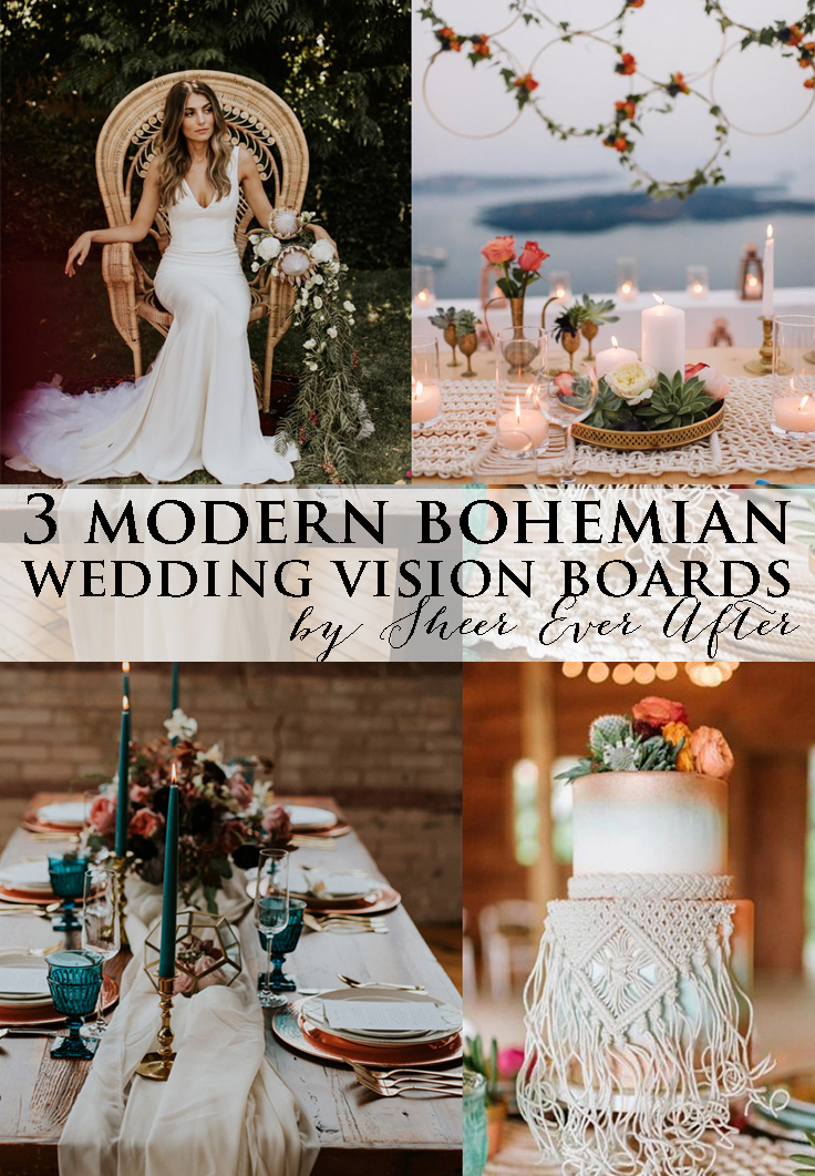 modern bohemian vision boards