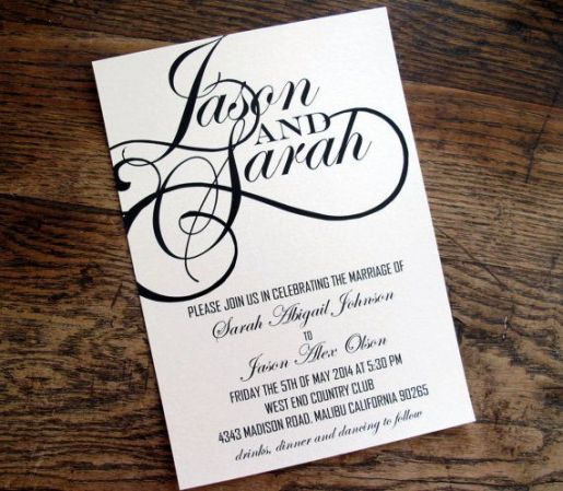 Modern Wedding Invite Wording: Free Font Friday: Modern Elegant Wedding Fonts + FREEBIE
