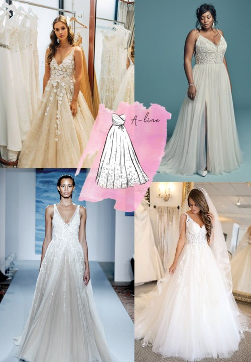 Wedding Dress silhouettes explained | Sheer Ever After Wedding Dress Inspiration | Follow Us at #sheereverafter_weddings sheereverafter.com