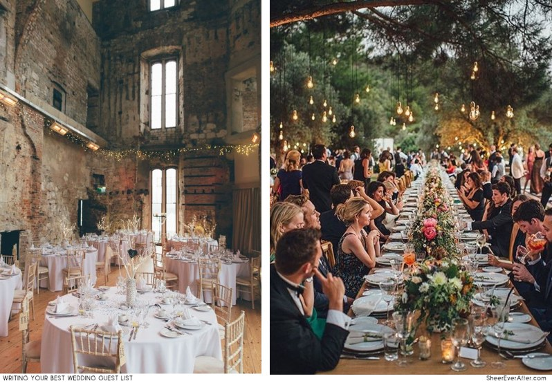 This is how you create your perfect wedding guest list SheerEverAfter.com