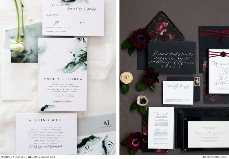 Everything you need to know to write the perfect guest list for your wedding SheerEverAfter.com