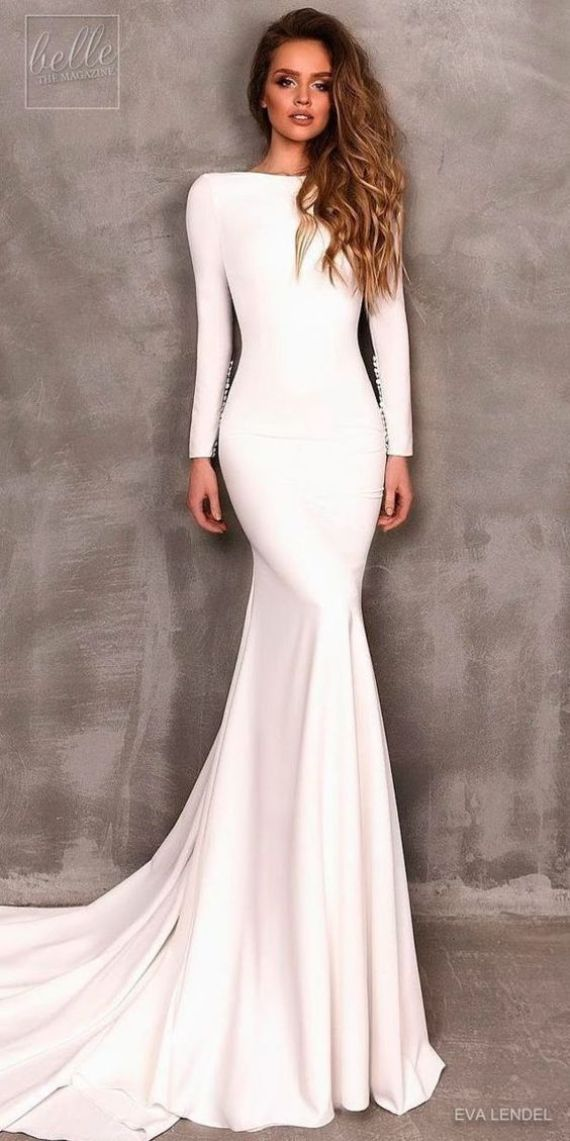 9ce39144609 You will channel your inner Meghan Markle in one of these romantic  minimalist wedding dresses
