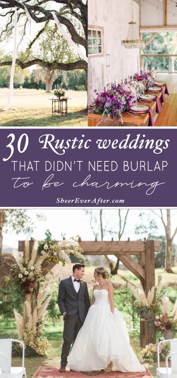 Rustic Elegance - but no burlap in sight! | This and more at www.SheerEverAfter.com