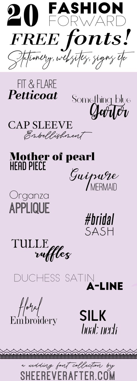100% FREE Fashion Forward Fonts for your graphic design projects